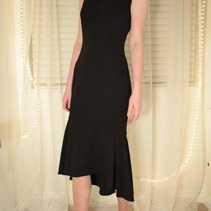 Calvin Klein black dress with ruffle